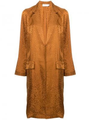 Однобортное пальто с анималистическим принтом A.L.C.