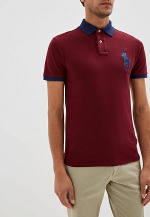 Поло Polo Ralph Lauren SLIM FIT. Цвет: бордовый