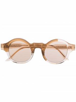 Солнцезащитные очки L4 в круглой оправе Kuboraum. Цвет: нейтральные цвета
