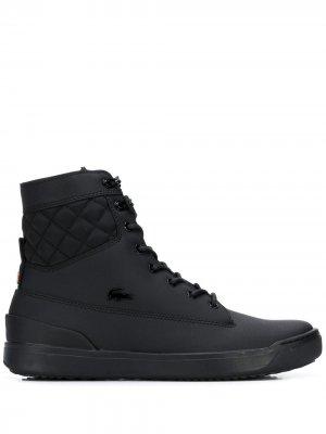 Высокие кроссовки с логотипом Lacoste. Цвет: черный
