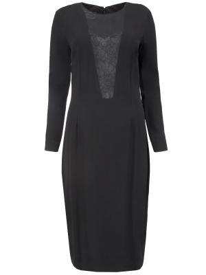 Коктейльное платье BY MALENE BIRGER. Цвет: черный