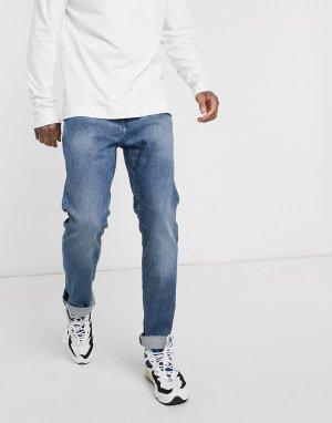 Синие узкие джинсы ED80-Синий Edwin