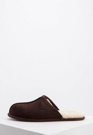 Тапочки UGG. Цвет: коричневый