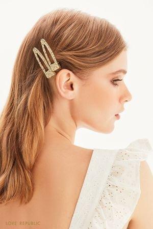 Заколки для волос из фактурного металла LOVE REPUBLIC
