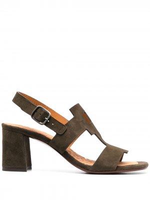 Босоножки на каблуке с открытым носком Chie Mihara. Цвет: зеленый