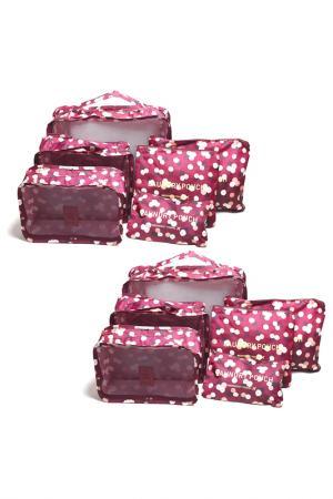 Комплект сумок, 2 шт. HOMSU. Цвет: бордовый