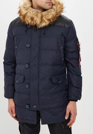 Пуховик Alpha Industries N3-B Puffer. Цвет: синий