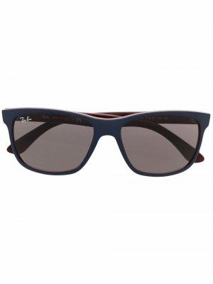 Солнцезащитные очки с затемненными линзами Ray-Ban. Цвет: синий