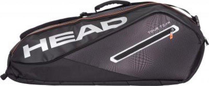 Сумка для 6 ракеток Tour Team 6R Combi Head. Цвет: черный