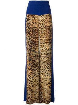 Брюки с леопардовым принтом Cushnie. Цвет: коричневый