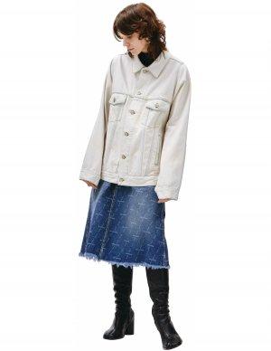 Джинсовая куртка с накладными карманами Balenciaga