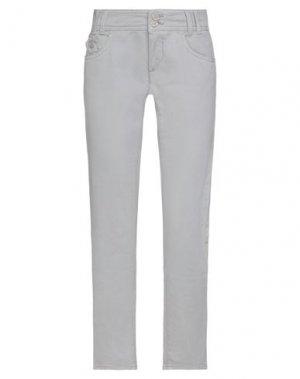 Повседневные брюки COMPAGNIA ITALIANA. Цвет: голубиный серый