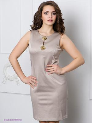 Платье Alkis. Цвет: бежевый, золотистый