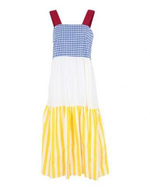Платье длиной 3/4 BONSUI. Цвет: белый