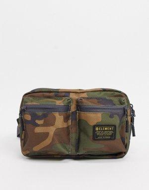 Зеленая камуфляжная сумка-кошелек на пояс Recruit-Зеленый Element