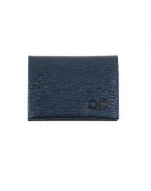 Бумажник SALVATORE FERRAGAMO. Цвет: темно-синий