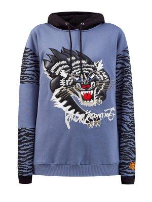 Худи Kenzo x KANSAIYAMAMOTO с принтом Black Panther. Цвет: синий