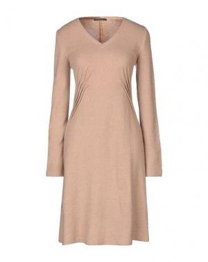 Платье до колена ANDREA TURCHI. Цвет: верблюжий