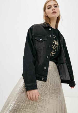 Куртка джинсовая Karl Lagerfeld. Цвет: черный