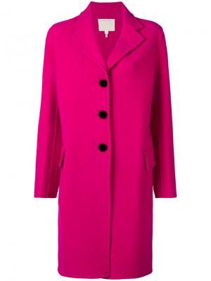 Однобортное пальто Marc Jacobs. Цвет: розовый