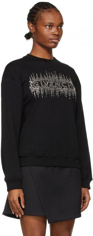 Black Rhinestone Logo Sweatshirt Givenchy. Цвет: 001-black