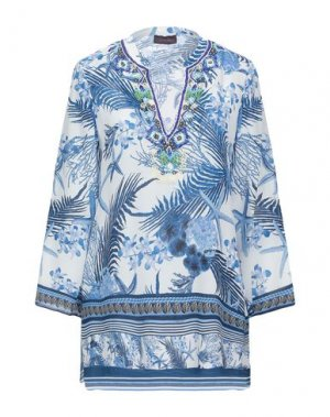 Блузка HALE BOB. Цвет: синий