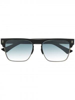 Солнцезащитные очки 1366 в квадратной оправе Cutler & Gross. Цвет: черный