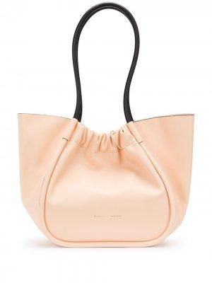 Большая сумка-тоут со сборками Proenza Schouler. Цвет: оранжевый