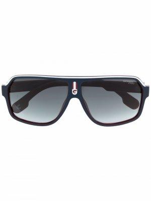 Солнцезащитные очки-авиаторы Carrera. Цвет: синий
