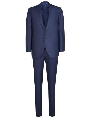 Классический костюм Attolini. Цвет: синий