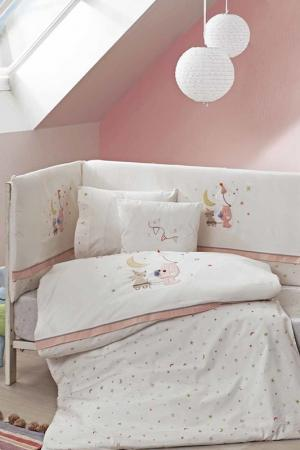 Baby cover set TAC. Цвет: white, pink