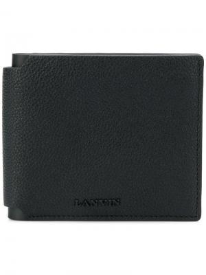 Бумажник с бляшкой логотипом Lanvin. Цвет: черный