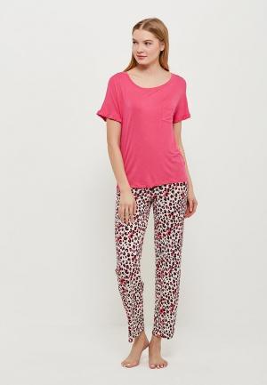Пижама Marks & Spencer MA178EWANJK0. Цвет: мультиколор, розовый