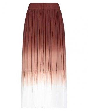 Длинная юбка ATTIC AND BARN. Цвет: какао