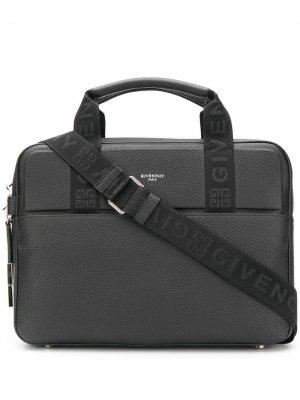 Сумка для ноутбука с логотипом Givenchy. Цвет: черный