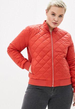 Куртка утепленная Lacoste. Цвет: оранжевый
