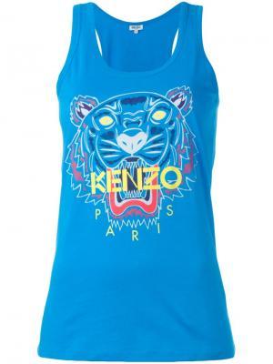 Майка Tiger Kenzo. Цвет: синий