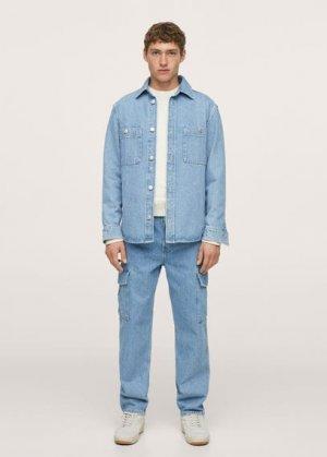 Свободные джинсы карго - Egeo Mango. Цвет: синий средний