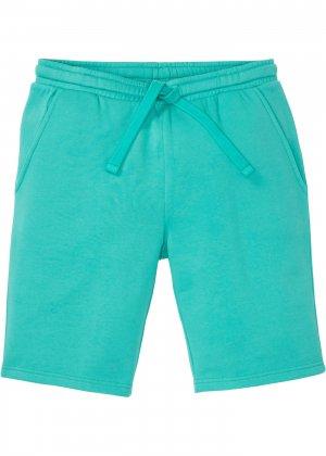 Трикотажные шорты стандартного покроя bonprix. Цвет: зеленый