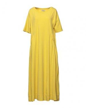 Платье длиной 3/4 ALPHA STUDIO. Цвет: кислотно-зеленый