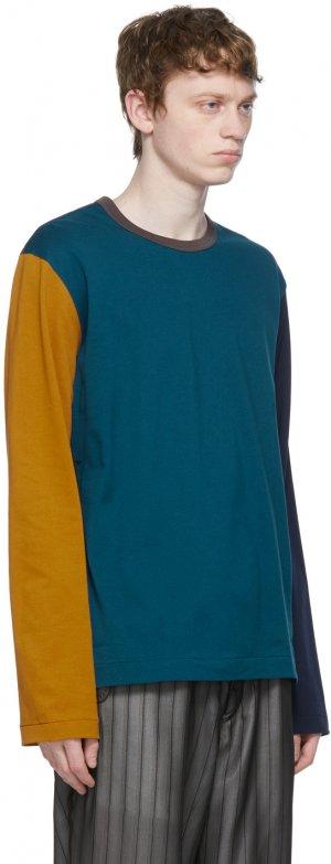 Blue Colorblock Long Sleeve T-Shirt Comme des Garçons Homme Deux. Цвет: 1 multi