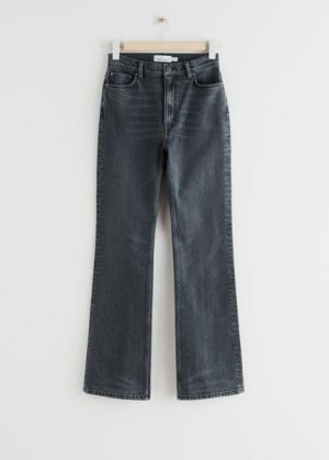 Расклешенные джинсы с завышенной талией &Other Stories. Цвет: серый