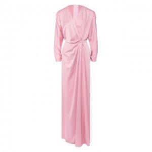 Платье-макси Jenny Packham. Цвет: розовый