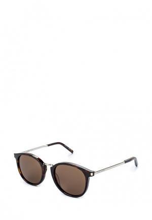 Очки солнцезащитные Saint Laurent SA042DWQYM09. Цвет: коричневый