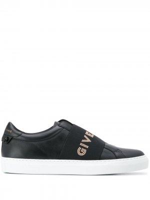 Кроссовки-слипоны Givenchy. Цвет: черный