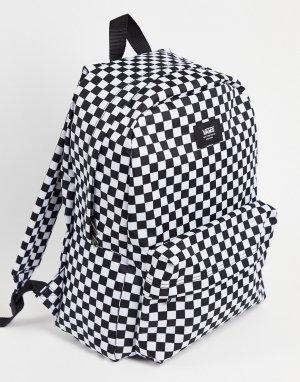 Рюкзак в черно-белую шахматную клетку Old Skool-Черный цвет Vans