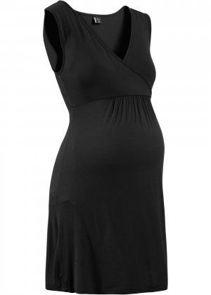 Ночная сорочка для будущей и кормящей матери bonprix. Цвет: черный