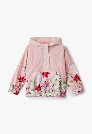 Ветровка Guess. Цвет: розовый