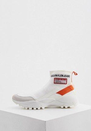 Кроссовки Calvin Klein. Цвет: белый