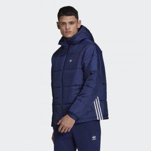 Утепленная куртка с капюшоном Originals adidas. Цвет: none